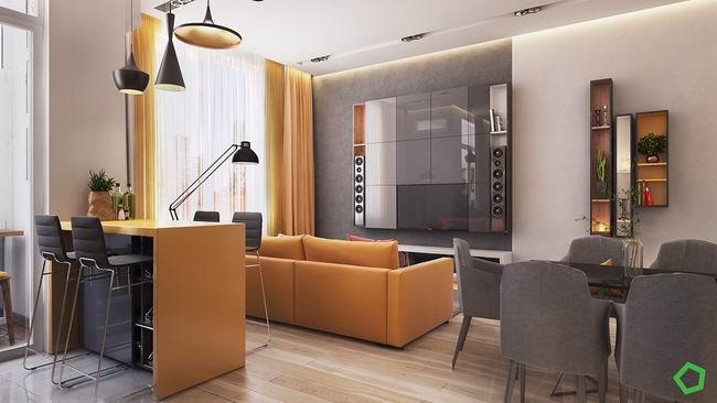 中渝国际城93㎡现代简约二居室10万