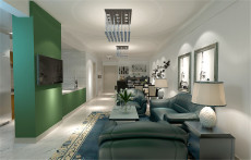 专家公寓111㎡现代简约三居室9万