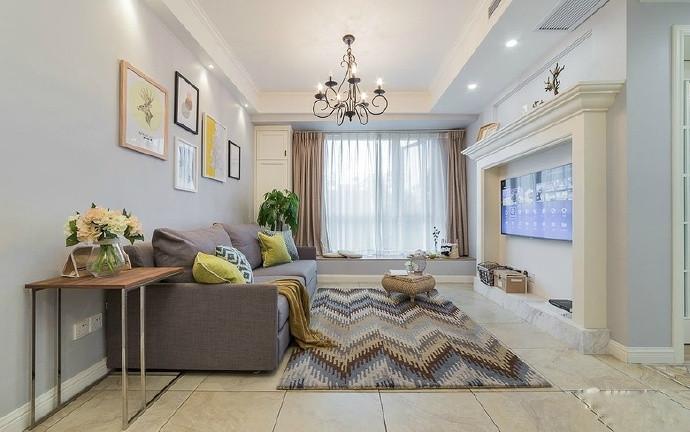 紫金城117㎡现代简约三居室6.9万