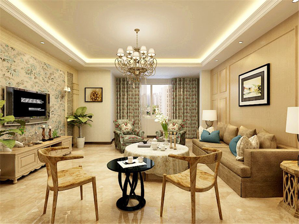 紫金府美式156㎡北欧风格四居室13万