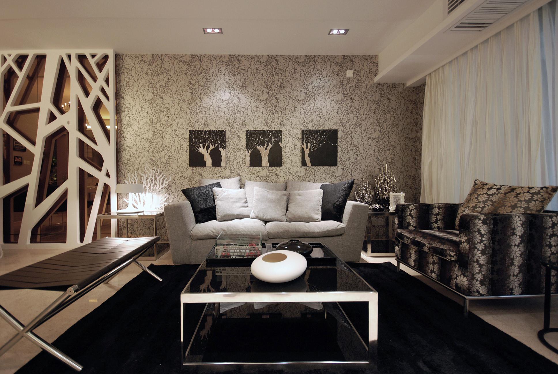 紫元阳光水榭142㎡现代简约三居室12万