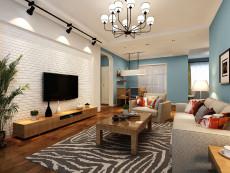 自然舒适之家118㎡混搭风格三居室13.2万