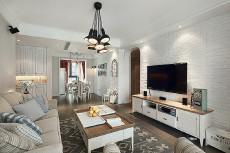 左岸骏景设计123㎡北欧风格三居室12万