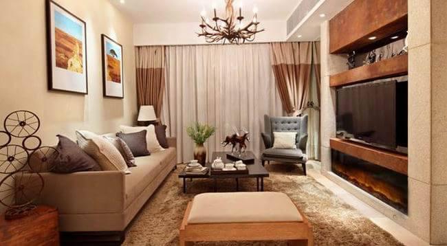 坐标城83㎡现代简约二居室7万