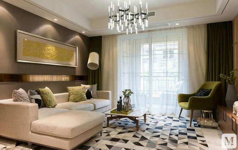自然设计103㎡北欧风格二居室16.2万