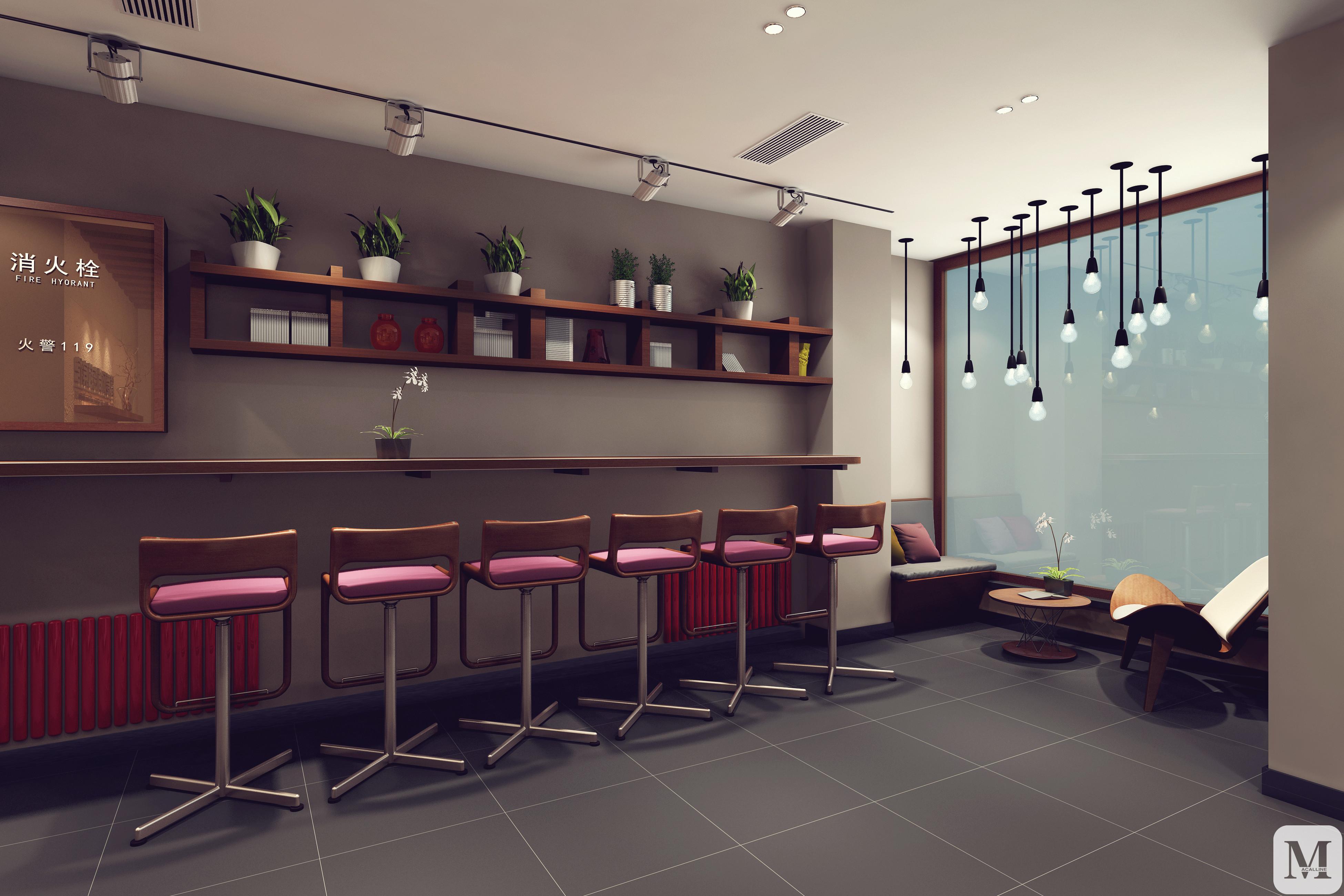简爱宾馆工装1300㎡现代简约六居室60万